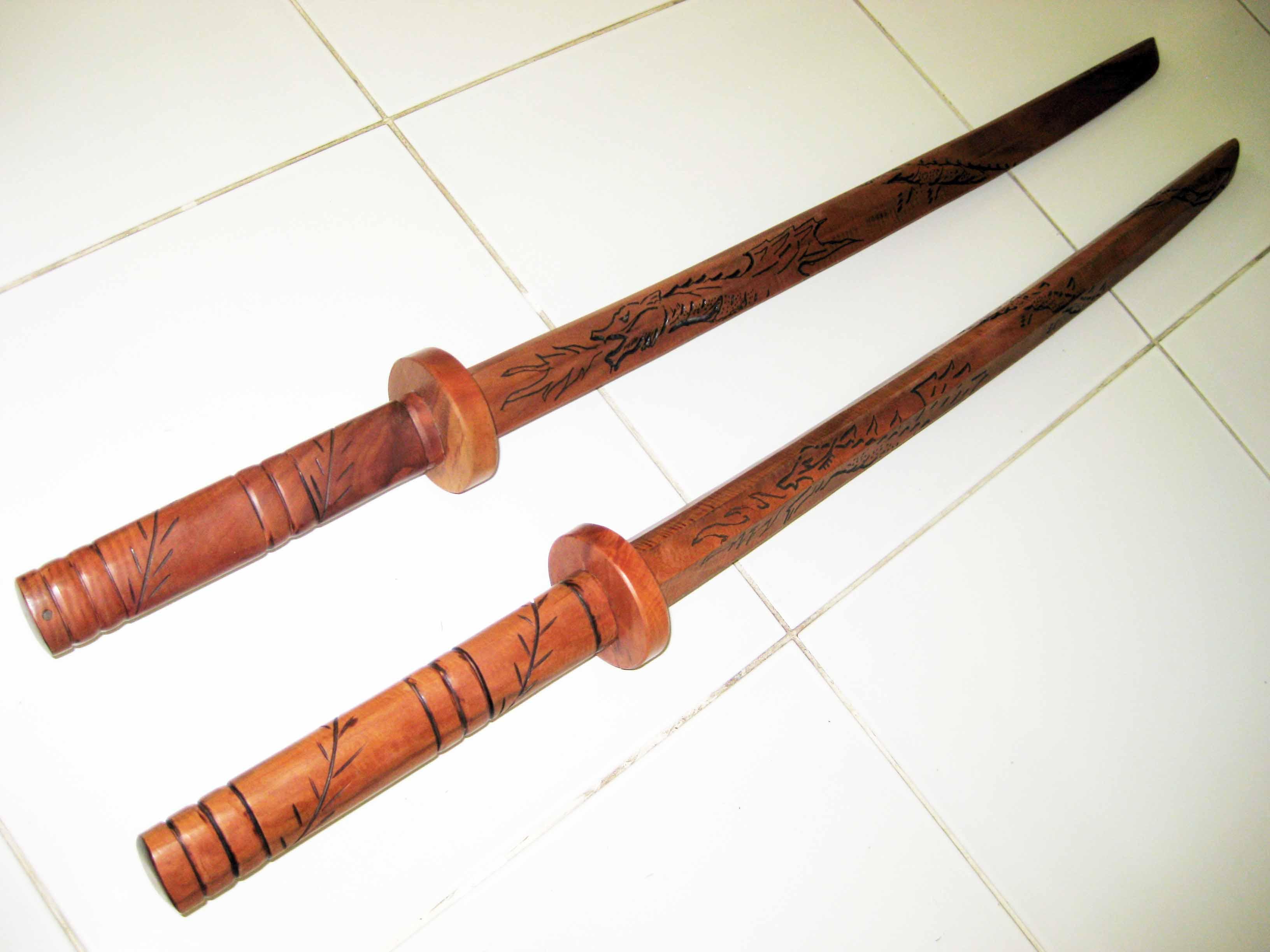 Самурайский меч из дерева своими руками